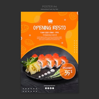Cartaz para restaurante de sushi