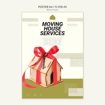 Cartaz para serviços de mudança de casa