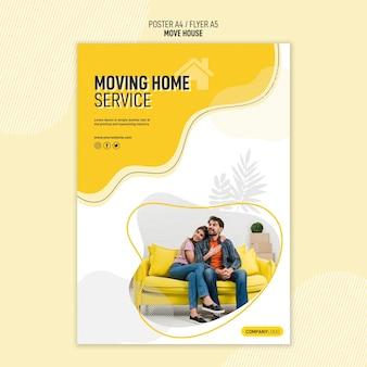 Cartaz para serviços de realocação de residências