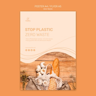 Cartaz para zero desperdício