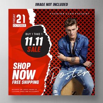 Cartaz promocional de vendas