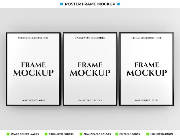 Cartaz realista ou maquete de moldura de foto
