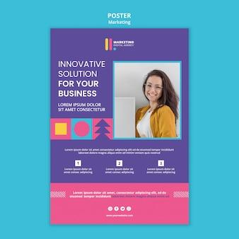 Cartaz vertical para agência de marketing criativo