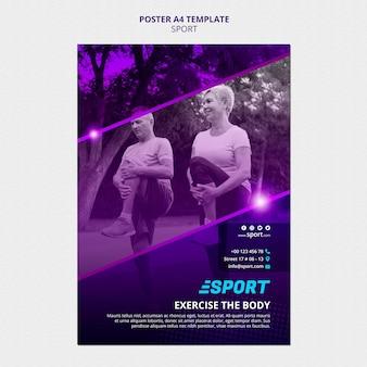 Cartaz vertical para atividades esportivas