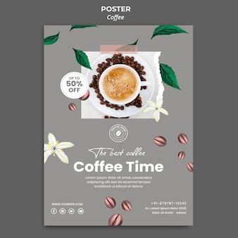 Cartaz vertical para café