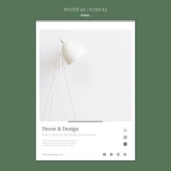 Cartaz vertical para decoração e design de casa