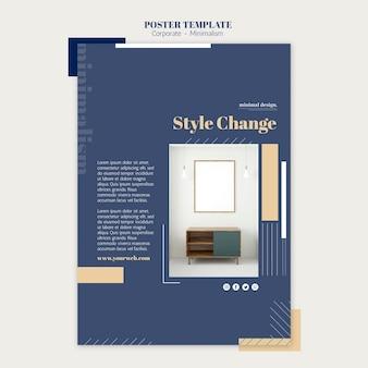 Cartaz vertical para design de interiores