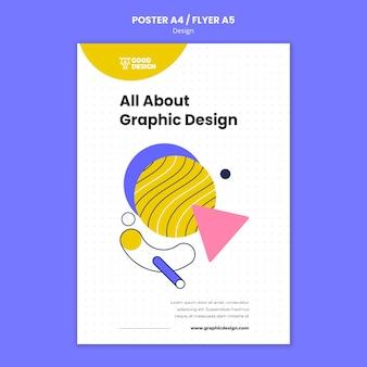 Cartaz vertical para design gráfico