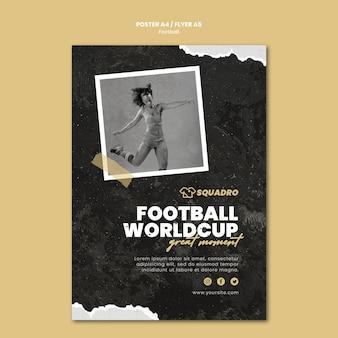 Cartaz vertical para jogador de futebol feminino