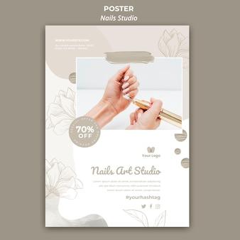 Cartaz vertical para salão de manicure