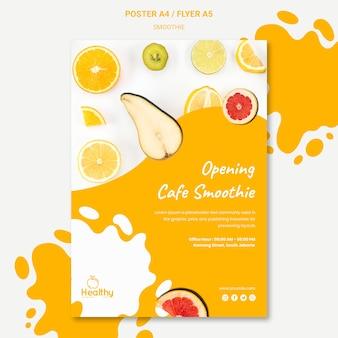 Cartaz vertical para smoothies de frutas saudáveis