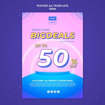 Cartaz vertical para super venda