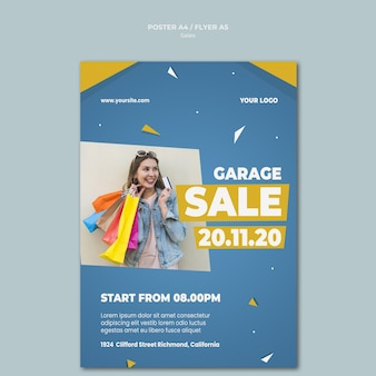 Cartaz vertical para venda no varejo