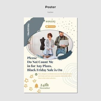 Cartaz vertical para vendas de moda