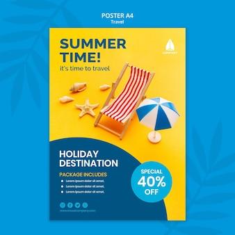 Cartaz vertical para viagens de férias