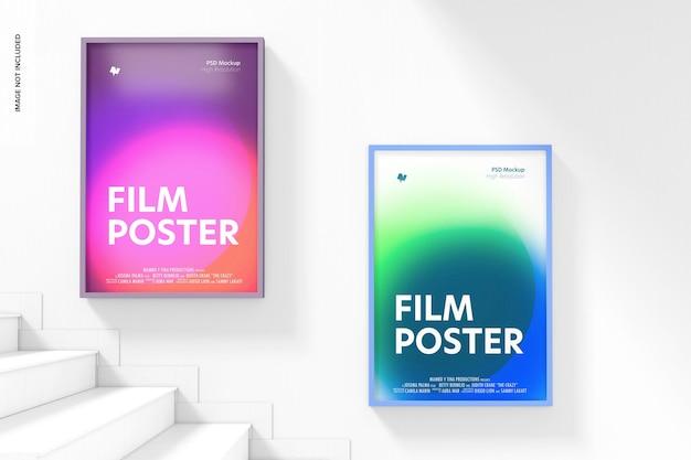 Cartazes de filmes com maquete de escadas