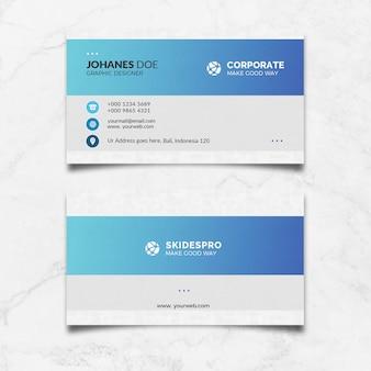 Cartões azuis modernos