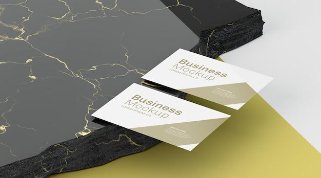 Cartões de espaço de cópia de maquete de papelaria comercial