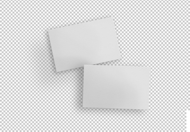 Cartões de visita brancos isolados