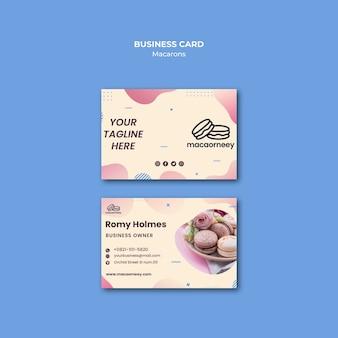 Cartões de visita com macarons