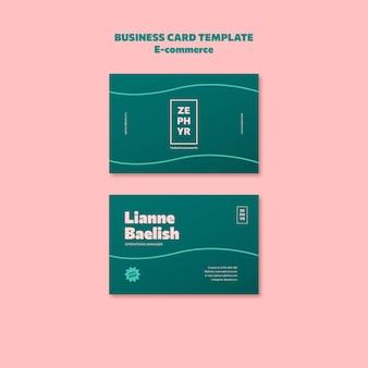 Cartões de visita de comércio eletrônico