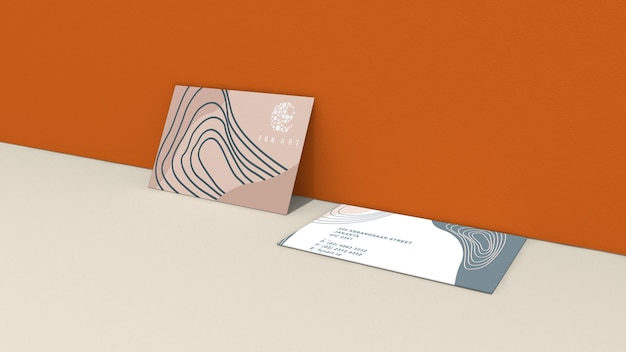 Cartões de visita horizontais frente e verso