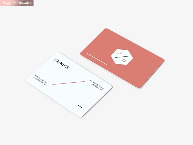 Cartões de visita maquete