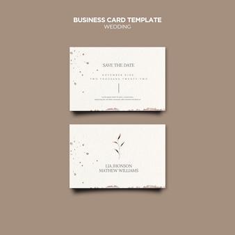 Cartões de visita para eventos de casamento
