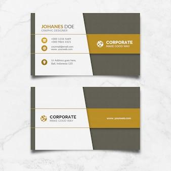 Cartões modern gold clean