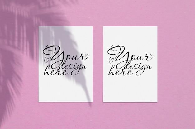 Cartões modernos ou elegantes ou convite mock up