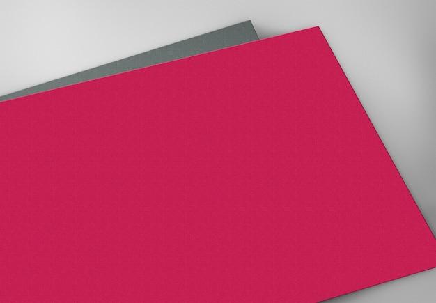 Cartões vazios vermelhos e pretos