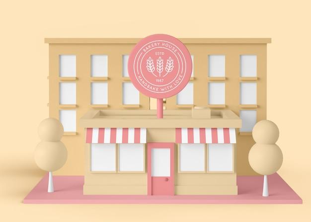 Casa comercial exterior da padaria