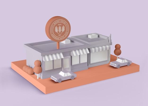 Casa de padaria de anúncio exterior
