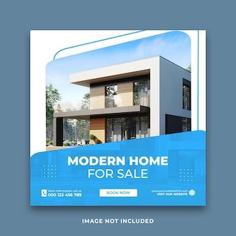 Casa moderna venda promoção mídia social pós templo