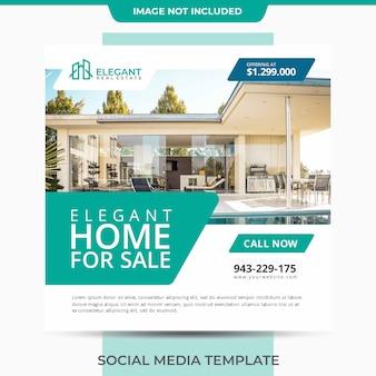 Casa simples para venda e marketing de vendas de imóveis