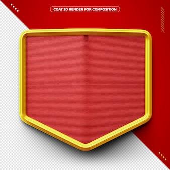Casaco vermelho 3d para maquiagem