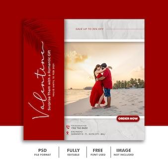 Casal de amor modelo de postagem de mídia social