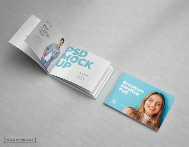 Catálogo de maquete de brochura ampla, design de revista e livreto