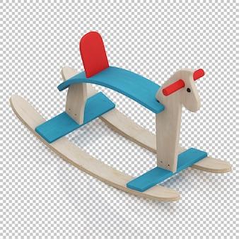 Cavalo de brinquedo isométrico