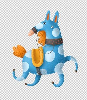 Cavalo galopando dos desenhos animados mão ilustrações desenhadas