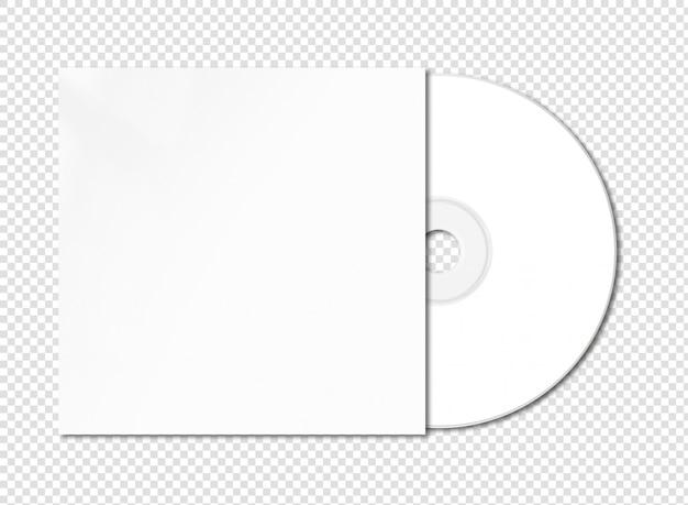 Cd branco - maquete de dvd isolado
