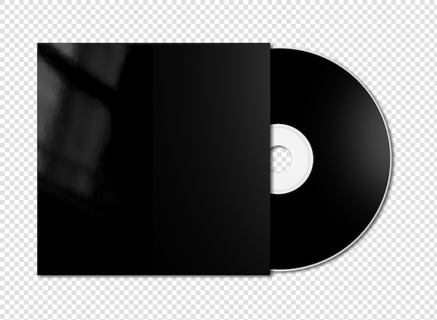 Cd preto - maquete de dvd isolado