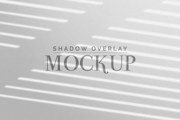 Cega a sombra sobreposição maquete