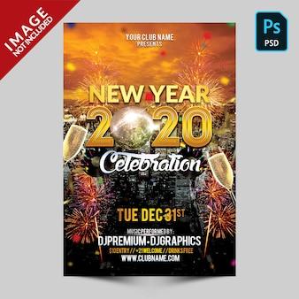 Celebração de ano novo de ouro