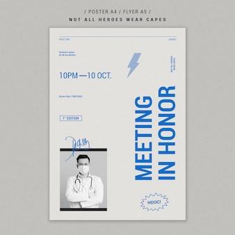 Celebrando o design de folheto de médicos