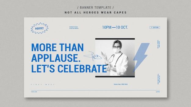 Celebrando o estilo de banner de médicos