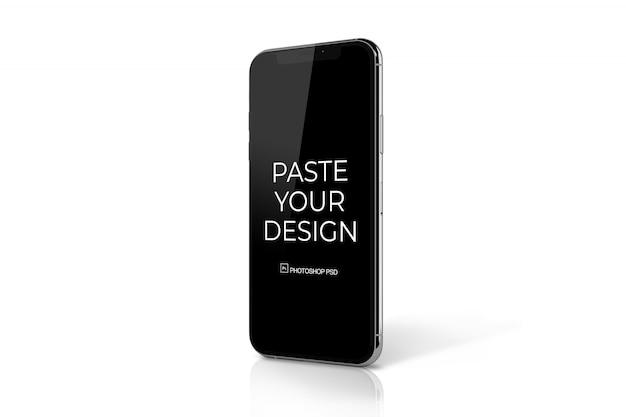 Celular com maquete de tela de toque