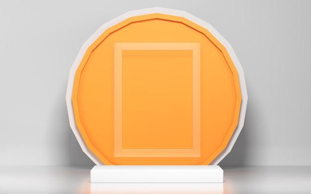 Cena abstrata e maquete de pódio para exposição de produtos com formas geométricas