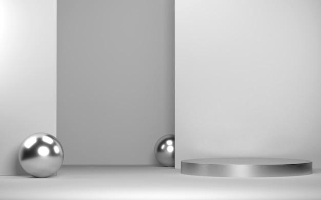 Cena abstrata para exposição de produtos com formas geométricas