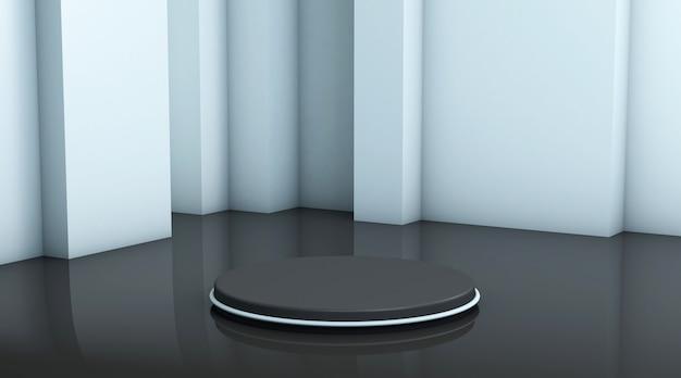 Cena de fundo abstrato para renderização de exibição do produto